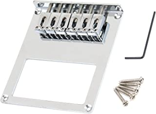 Best FarBoat Gutiar Bridge Saddles Electric Tremolo Bridge Compatible with Tele Telecaster Guitars with Screws Allen Wrench Chrome-Plated (Silver) Review