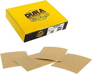 Dura-Gold - Premium - 80 Grit Gold - 1/4 Sheet Hook & Loop or Clip On Sandpaper 5.5
