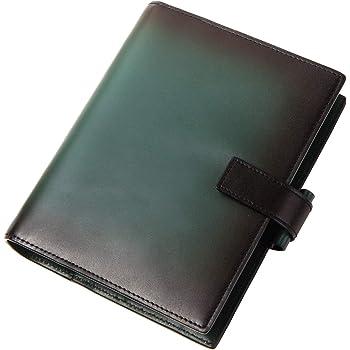 [ラファエロ] Raffaello 一流の革職人が作る スフマート製法で染色した システム手帳 バイブルサイズ (フォレストグリーン)
