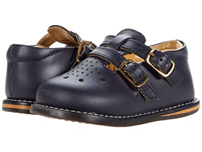 Josmo Kids T-Strap Buckle Shoe (Infant/Toddler) (Navy) Kid