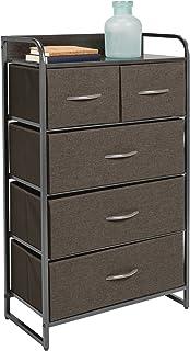 mDesign commode à 5 tiroirs – étagère à tiroirs haute pour la chambre, le salon, l'entrée, la salle de bain, etc. – rangem...
