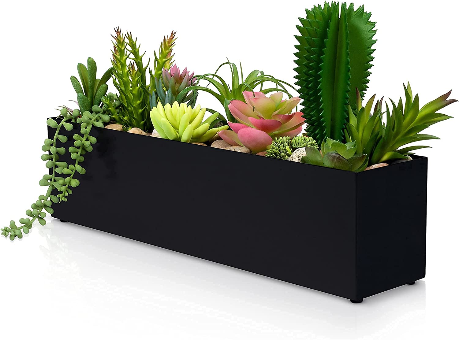 """STORMWIND Wholesale Max 71% OFF Modern Style Indoor Planter Rectangle 16"""" Stain"""