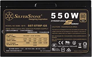 SilverStone Technology 550W Computer Power Supply PSU Fully Modular with 80 Plus Gold & 140mm Design Power Supply (SST-ST5...