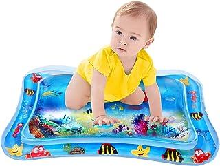 プレイマッ? ベビー ウォーター かわいいプレイマット 子供用空気注入式プレイマッ? 新生児向けマット 触って遊ぶ 赤ちゃんの刺激の成長 浮き輪 知育 暑さ対策 室内&屋外用パッド ギフトにぴったりパッケージ