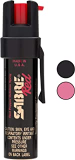 SABRE RED Compact Pepper Spray with Clip – Maximum Police Strength OC Spray for..