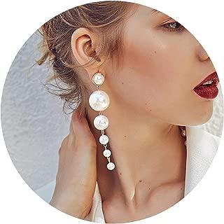 1 Pair Fashion Women Star Streamlined Tassel Long Crystal Earrings