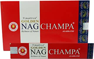 Agarbathi VIJAYSHREE GOLDEN NAG CHAMPA Incense Sticks 15G X 12