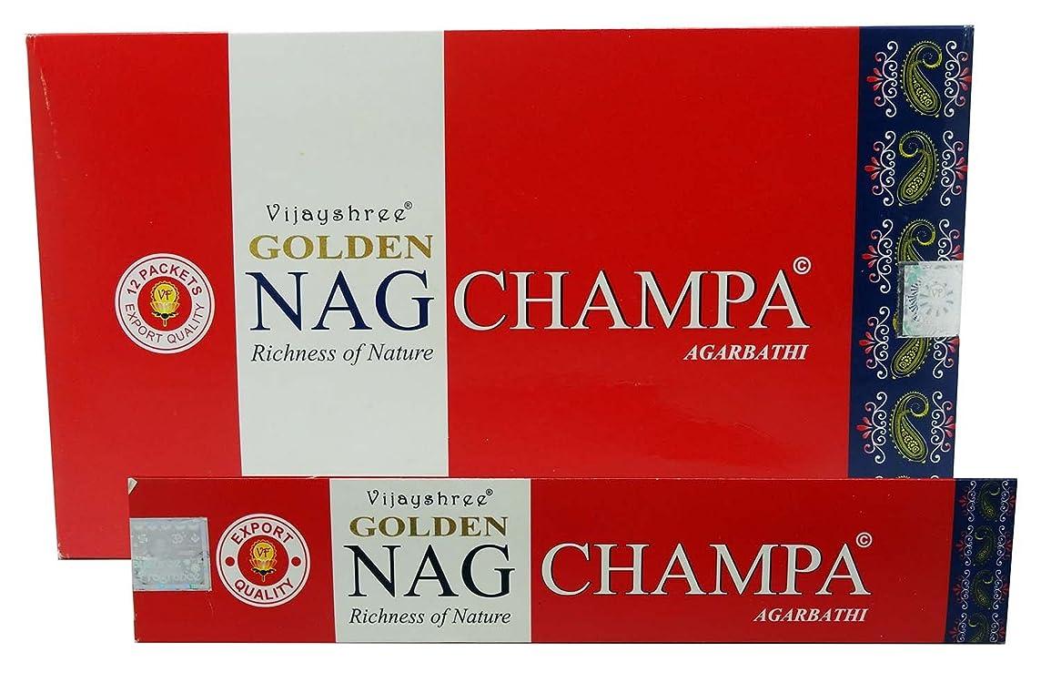 ファイターますますペルセウスAgarbathi Vijayshree Golden Nag Champa Incense Sticks 15?g x 12