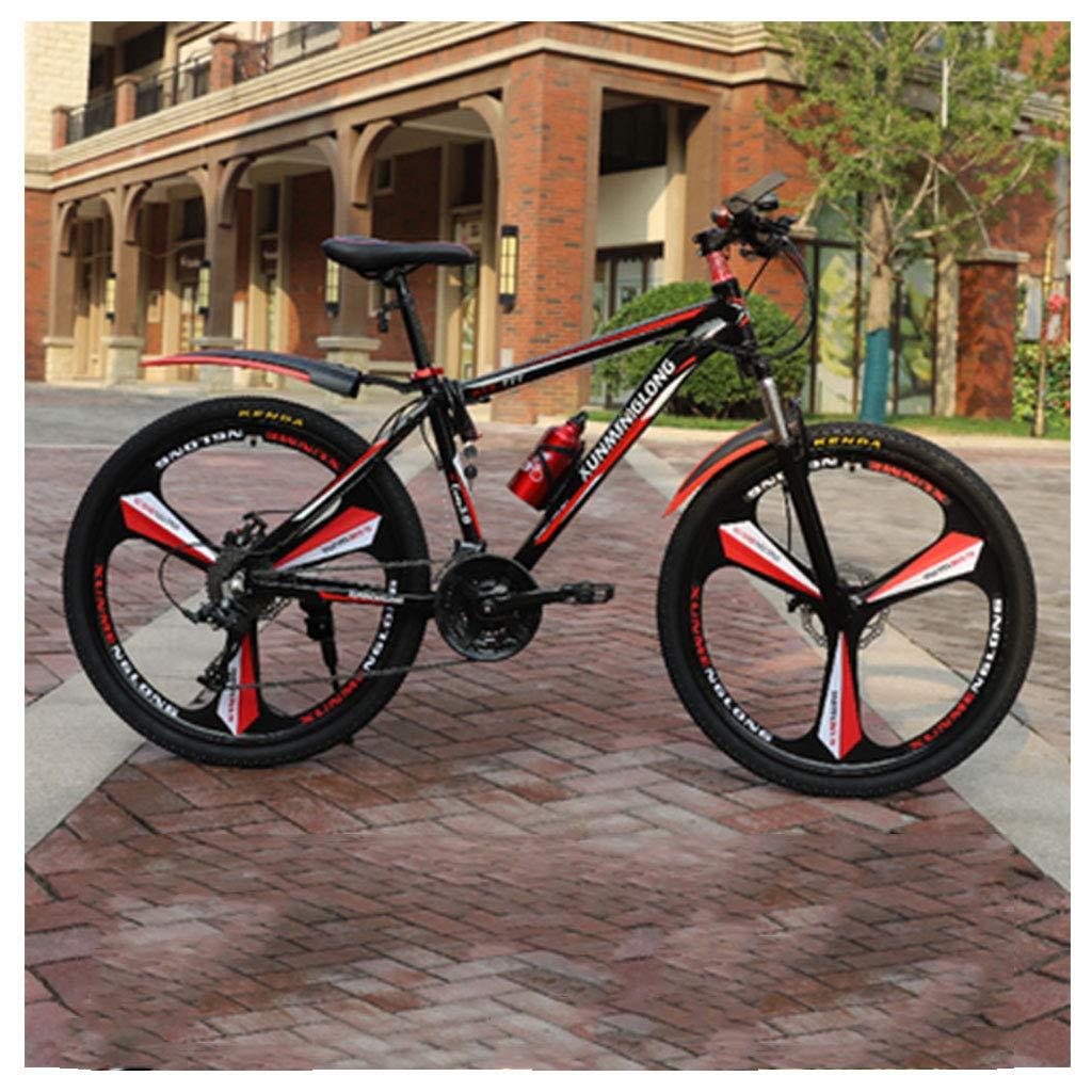 CDBK Bicicleta De Montaña, Bicicleta De Adulto De Sexo Masculino Una Rueda Ultraligera Fuera De La Carretera A Larga Distancia Doble De La Juventud Estudiante Turno De Amortiguación Bicicleta Roja: Amazon.es: Deportes