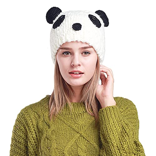 27cc69f5423 Myosotis510 Cute Parent-Child Knitted Cat Bear Ear Cap Beanie Black