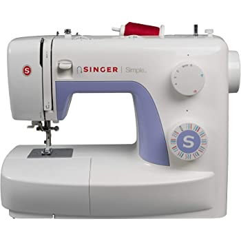 Singer Simple 3232 - Máquina de coser mecánica, 32 puntadas, 120 V, color blanco: Amazon.es: Hogar