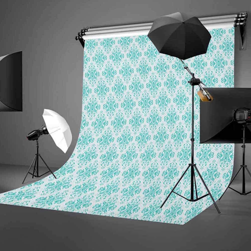 8x12 FT Colorful Vinyl Photography Background Backdrops,Dark Toned Background with Contrasting Vibrant Blossoming Flowers and Leaf Nature Background Newborn Baby Portrait Photo Studio Photobooth Props