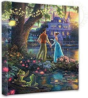 Thomas Kinkade - Gallery Wrapped Canvas , The Princess and the Frog , 14