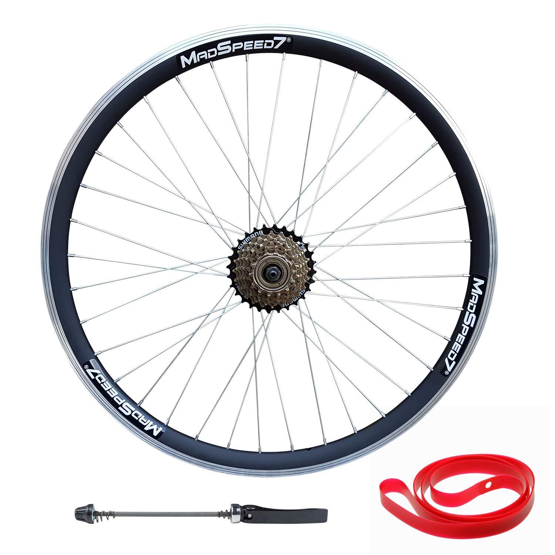 Madspeed7 700c Fixed Fixie Single Speed Bike Front Rear Wheel Set Flip Flop 18T Freewheel