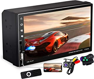 $59 » 7 Inch Double Din Car Stereo with Capacitive Touchscreen and Bluetooth Handsfree, 2 Din FM Radio Receiver with Backup Came...