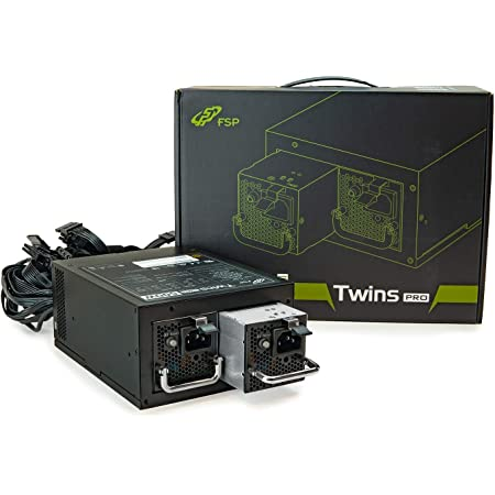 FSP Twins Pro ATX PS2 1+1 Dual Module 500W 80 Plus Gold Hot Swappable Redundant Digital Power Supply with Guardian Monitor Software (Twins Pro 500), FSP500-50RAB