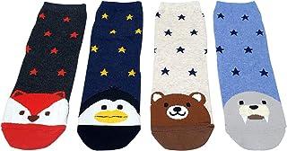Calcetines de algodón para mujer, bonitos, coloridos, novedosos, casuales, hechos en Corea, 4 pares