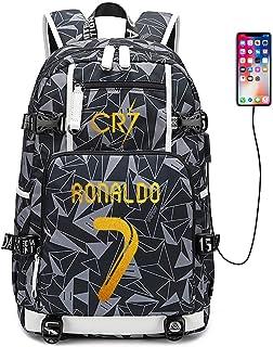 Jugador de fútbol Estrella Cristiano Ronaldo Mochila multifunción CR7 Estudiante de Viaje Mochila fanáticos del fútbol Mochila para Hombres Mujeres