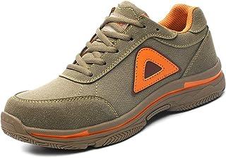 [CHNHIRA] メンズ レディース 安全靴 スニーカー 作業靴 鋼先芯 鋼製ミッドソール 軽量 通気 メッシュ 耐摩耗 衝撃吸収 男女兼用