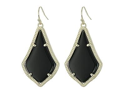 Kendra Scott Alex Earring (Gold Black Opaque Glass) Earring