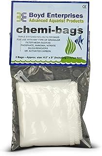Bags Chemi-Bags من شركة Boyd إنتربرايسس عبوة من قطعتين مع ربطات لحوض الأسماك