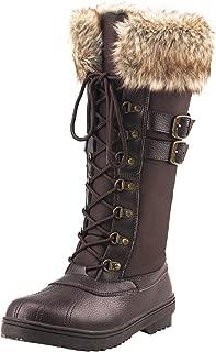 Women's Mid-Calf Nylon Fabric Snow Boots E7627