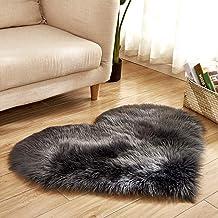 Heart-Shaped Carpet Bedroom Imitation Wool Non-Slip Warm Rugs Living Room Sofa Coffee Table Balcony Bay Window Cushion,15,...