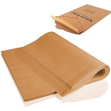 100 PCS Rectangle Parchment Paper Baking Bread Cake Sheets Non-Stick Unbleached
