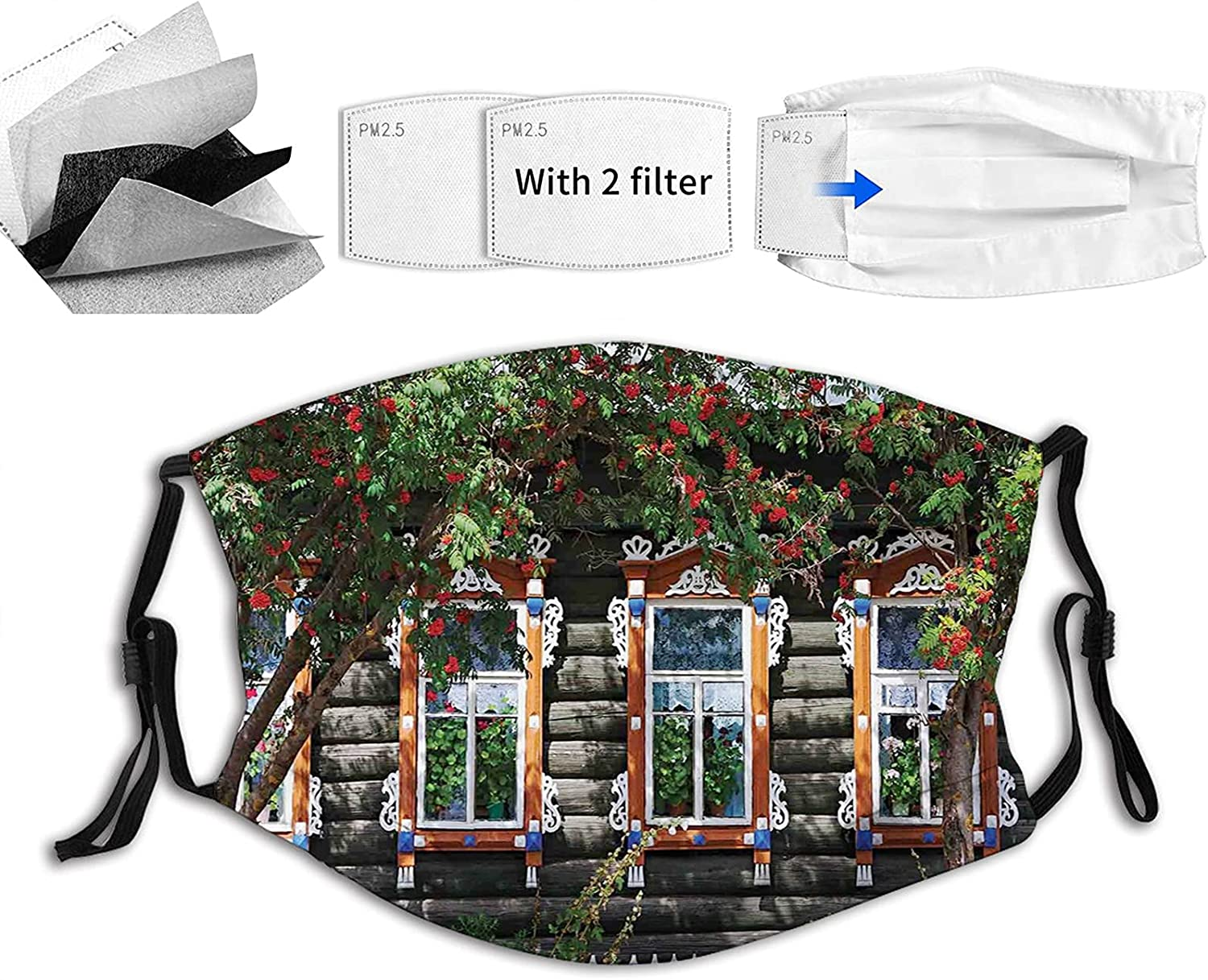 Manufacturer regenerated product Comfortable Printed mask It is very popular Wooden House at Windows with Fe Shutter