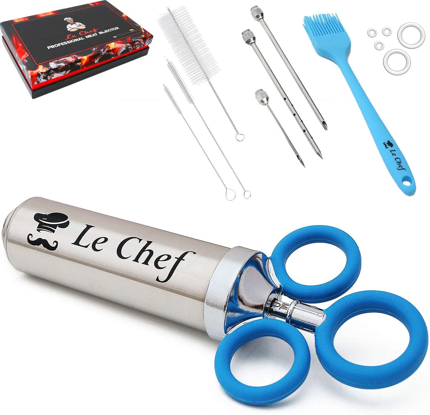 LE CHEF Meat Injector – Steel Stainless Cooking for Max 5 ☆ very popular 90% OFF Syringe