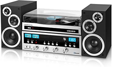Innovative Technology Classic Retro Bluetooth Stereo System with CD Player, FM Radio,..