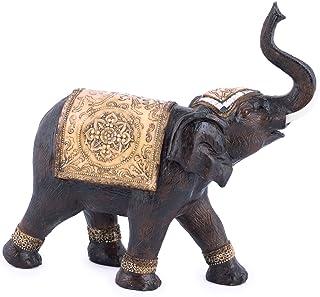 Religious Gifts Decorato Trumpeting asiatico elefante oro e cristallo Accent 3/3//4/inch resina figurine statue