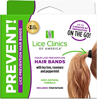 Lice Clinics of America Lice Prevention Hair Bands - Repel Lice with 100% Natural Essential Oils