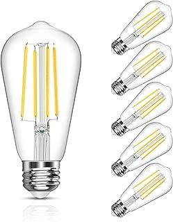 LANGREE Antique Vintage LED Light Bulbs, ST58 Edison Led Bulb, Equivalent 60W, Daylight White 4000k, E26 Medium Base, Non-Dimmable, LED Filament Bulbs, Pack of 5