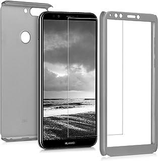 kwmobile fodral kompatibel med Huawei Y7 (2018)/Y7 Prime (2018) – skyddande helkropp fodral med skärmskydd – metalliskt ro...