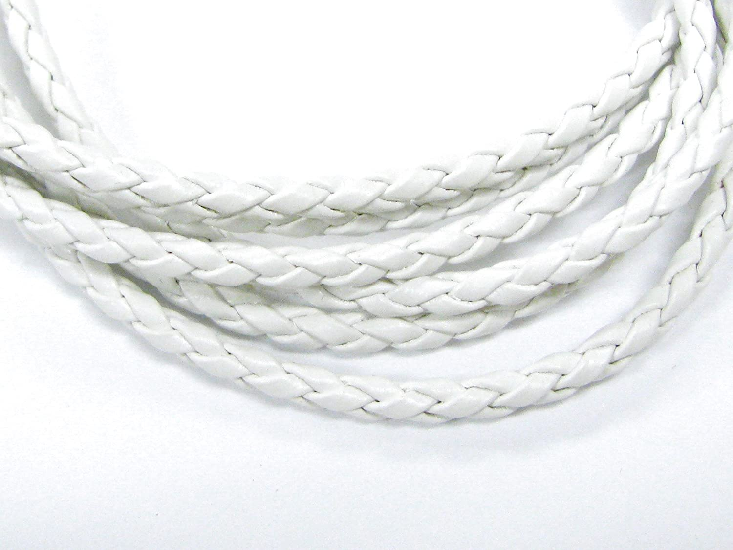 Linpeng 3 Piece Imitation Leather Braided Necklace for Jewelry Making Black