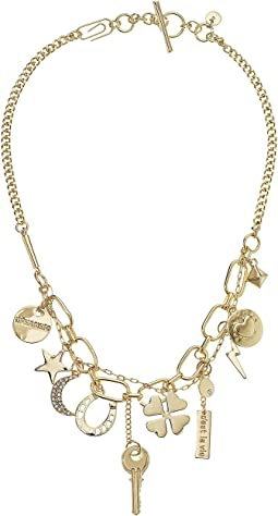 Charm Frontal Necklace 18""