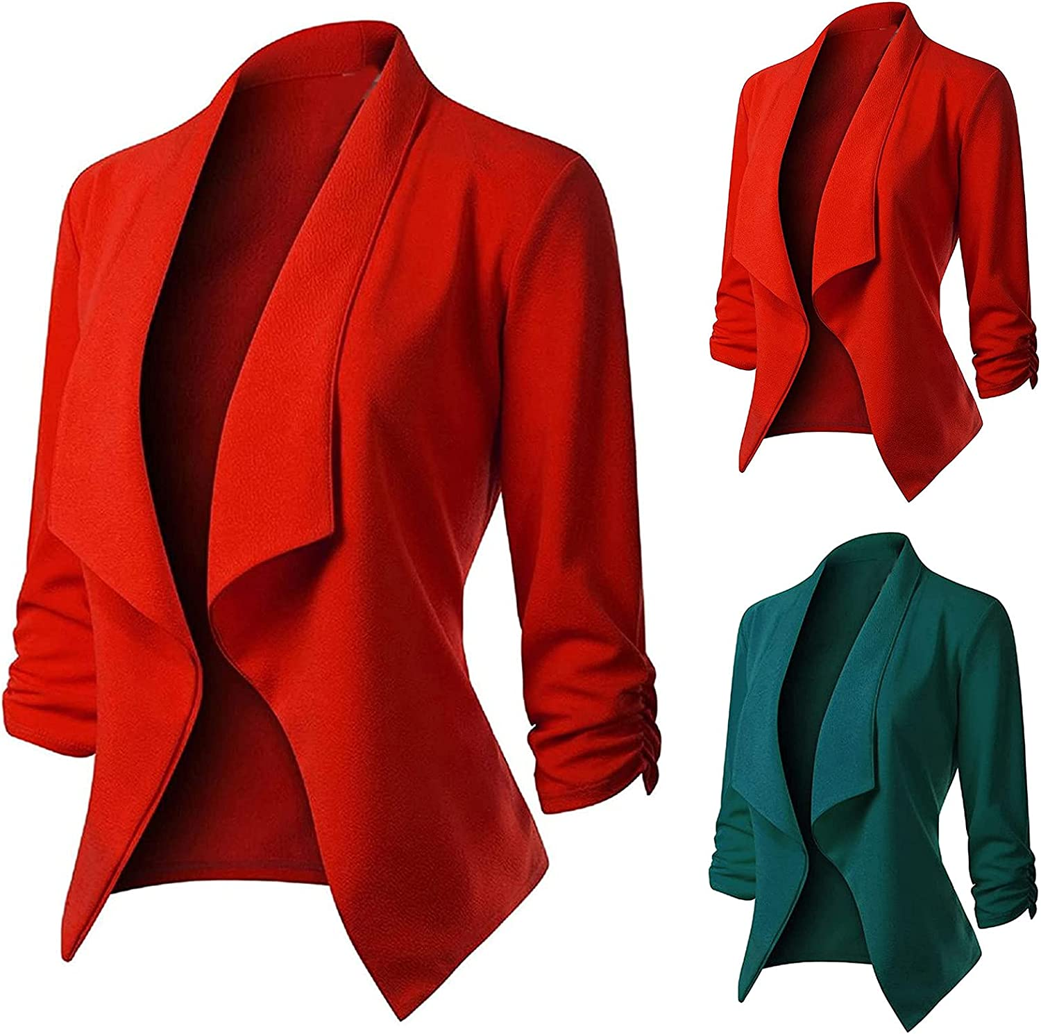 Blazer Max 72% OFF Jackets for Women Casual Solid Suit Sleeve 4 3 Financial sales sale O Business