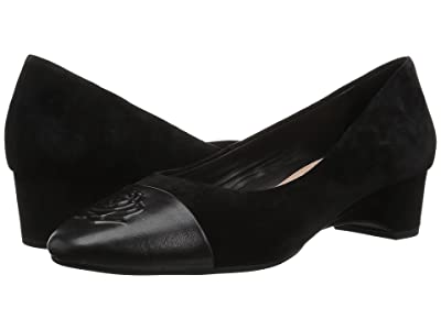 Taryn Rose Babe (Black Metallic/Silky Suede) Women