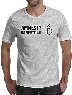 Amnesty International Men's Casual T-Shirt Slim Fit Tees