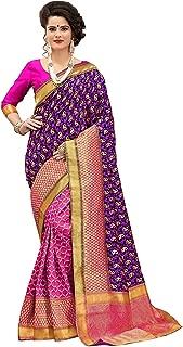Indian Sarees for Women Banarasi Kanjivaram Art Silk Woven Saree l Indian Ethnic Wedding Gift Sari with Unstitched Blouse Bollywood Style for Destinetion Weding-Engagement Treditional Style (VS8)