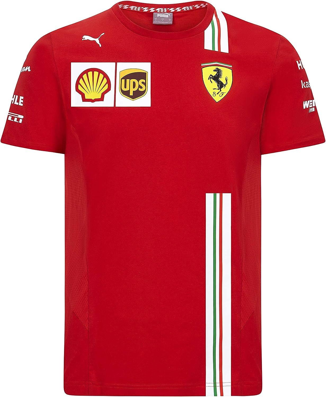 PUMA Ferrari Herren Team T-Shirt Camiseta para Hombre
