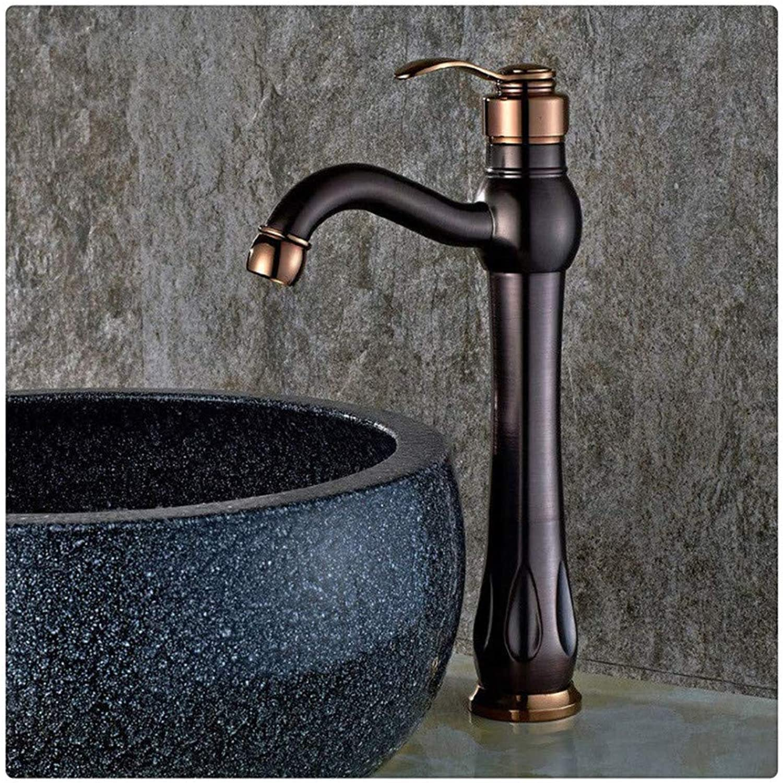 Kitchen Brass Retrobathroom Sink Taps Traditional Deck Mounted Single Handle Basin Tap Washroom Faucet