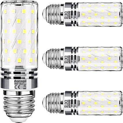 Anmossi Bombillas LED E27,Blanco Frio 6000K,1200Lm,12W Bombilla LED Maíz E27 Equivalente a 100W Incandescente Bombilla,No Regulable,Bombilla Edison LED E27,4 unidades