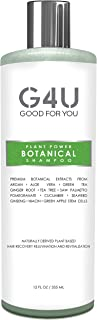 G4U Botanical Shampoo for Clean Healthy Hair, Reduce Hair Loss, Thinning Hair, Stimulate Hair Growth, Herbal Plant Based Natural Ingredients, For Men and Women, All Hair Types, Spas and Salons, 12 oz