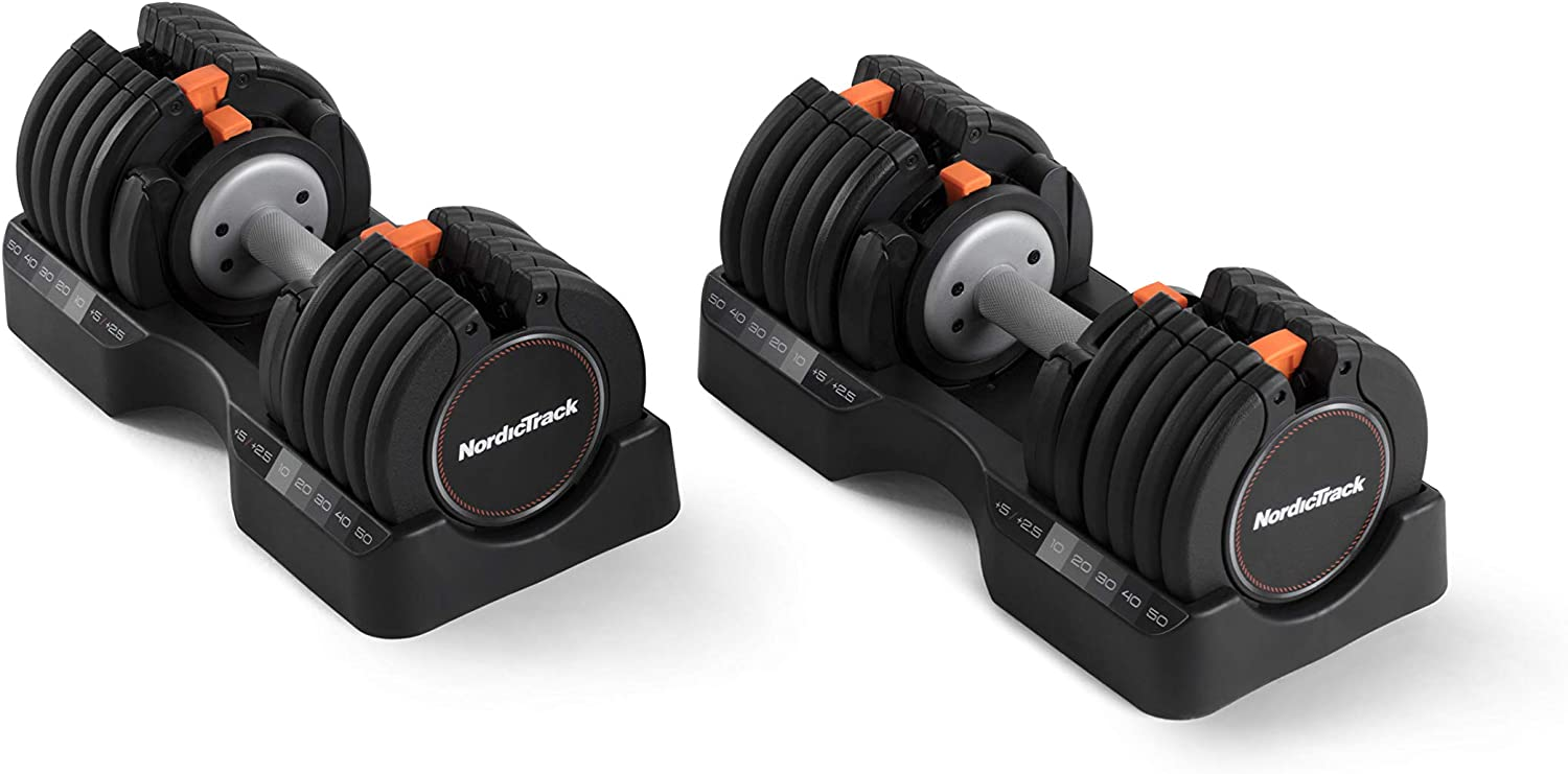 NordicTrack 55 セール 登場から人気沸騰 lb Select-a-Weight Dumbbell 超歓迎された Black Pair