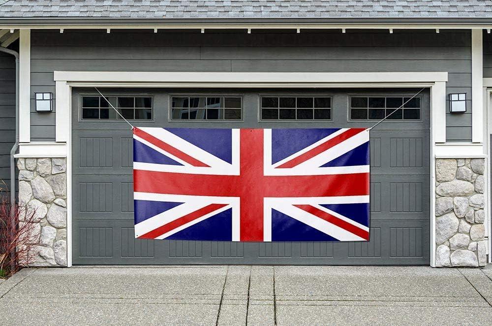 Anderson's United Kingdom Flag Garage 激安卸販売新品 Banner Outdoor Deco 営業 Door