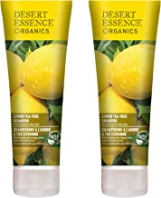 Desert Essence Lemon Tea Tree Shampoo - 8 Fl Oz - Pack Of 2 - Removes Excess Oil - Revitalizes Scalp - Strengthens & Protects Hair - Maca Root Extract - Soft, Smooth & More Manageable