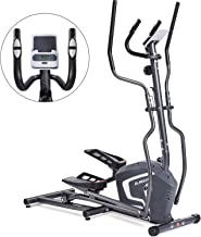 MaxKare Magnetic Elliptical Machine Trainer Smooth Quiet Driven with Front Flywheel/LCD..