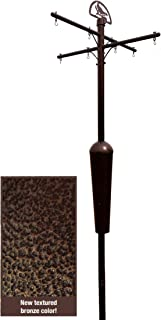 Squirrel Stopper Bronze Deluxe Squirrel Proof Pole System with Baffle